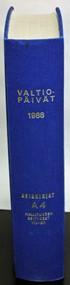 Valtiopäivät 1988 asiakirjat A4 hallituksen esitykset 105 - 190