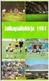 Jalkapallokirja 1981