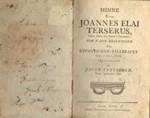 Minne Öfver Joannes Elai Terserus - Theol. Doct. och Biskop i Linköping (vanha fennica)*