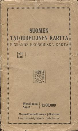 Antikka Net Suomen Taloudellinen Kartta Ii 5 Lohja