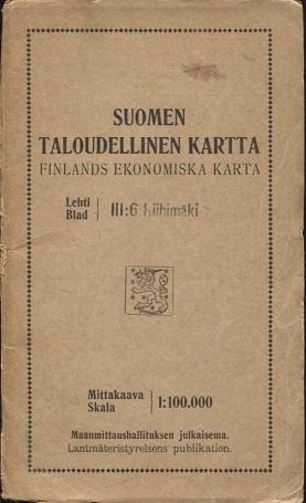 Antikka Net Suomen Taloudellinen Kartta Iii 6 Riihimaki