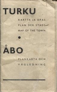 Antikka Net Turku Kartta Ja Opas Plan Der Stadt Map Of The