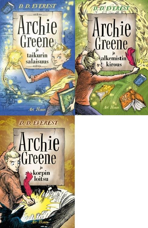 Everest D. D. - Archie Greene ja taikurin salaisuus - Archie Greene ja alkemistin kirous - Archie Greene ja korpin loitsu